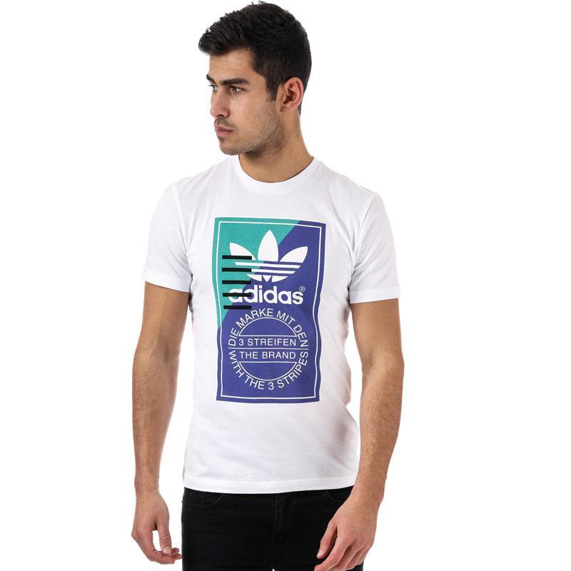 Tričko Adidas Originals Mens Tongue Label Tee White