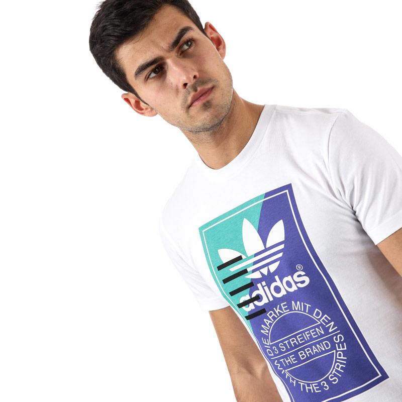 Tričko Adidas Originals Mens Tongue Label Tee Grey Heather