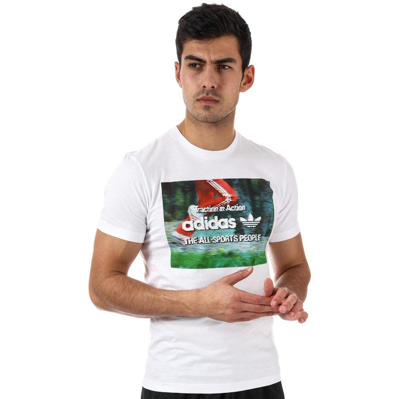 Tričko Adidas Originals Mens Traction in Action T-Shirt White