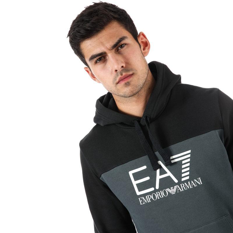 Mikina Emporio Armani EA7 Mens Train Tritonal Hoody Grey