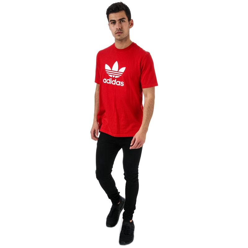 Tričko Adidas Originals Mens Trefoil T-Shirt Red