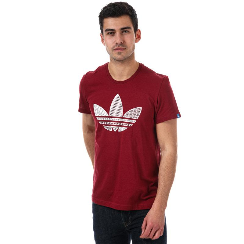 Tričko Adidas Originals Mens Trefoil T-Shirt Burgundy