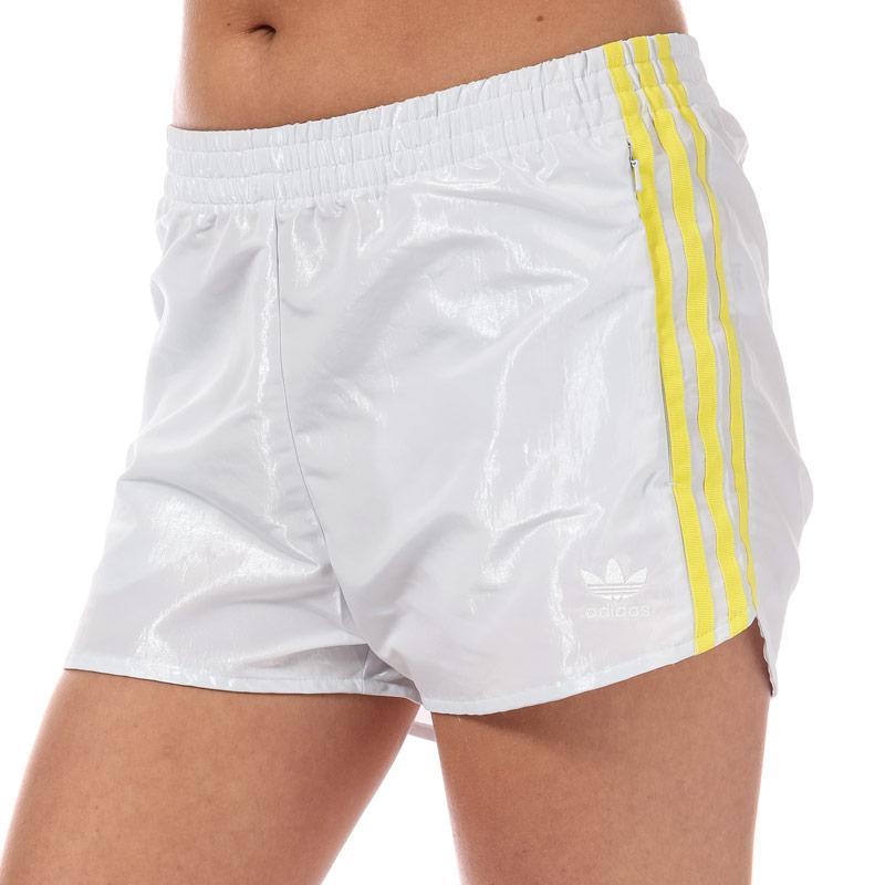 Adidas Originals Womens Fashion League Shorts Off White
