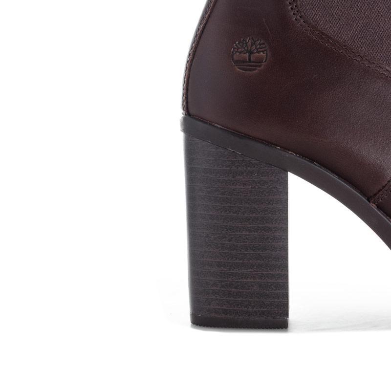 Timberland Womens Linwood Chelsea Boots Dark Brown
