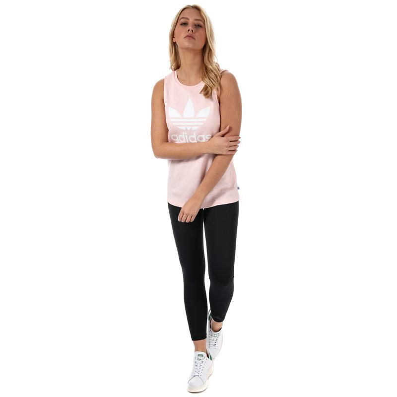 Adidas Originals Womens Loose Trefoil Tank Top Pink