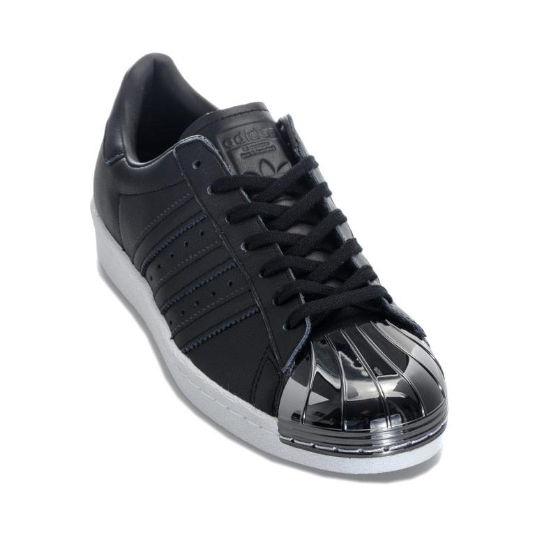 Adidas Originals Womens Superstar 80s Metal Toe Trainers Black-White