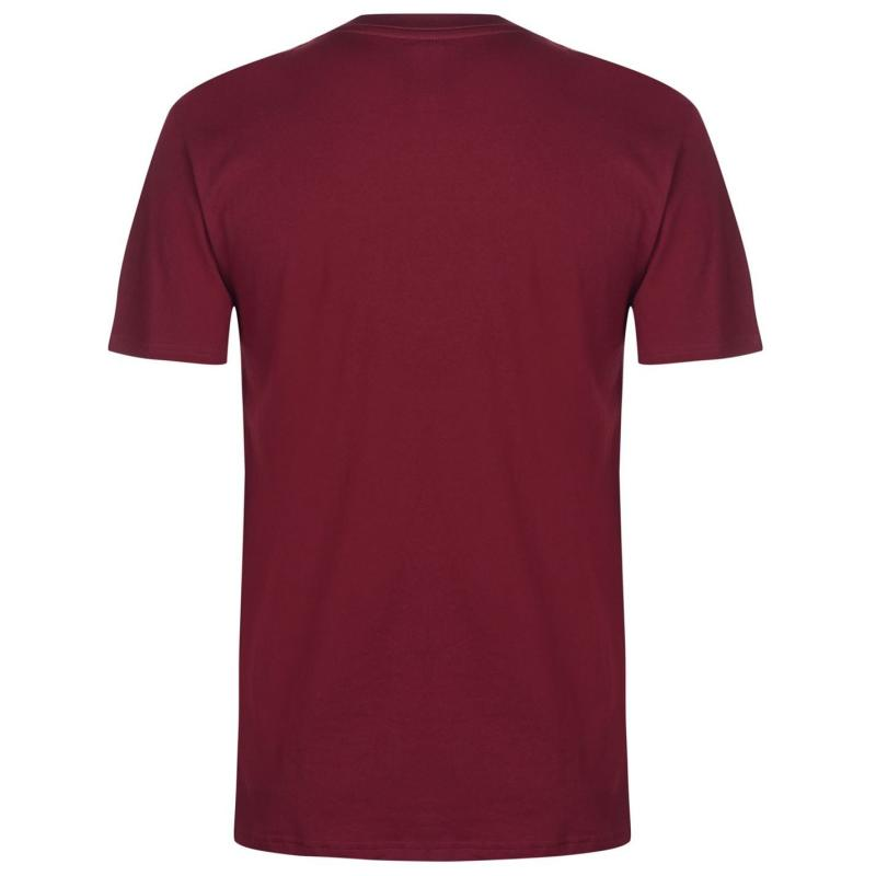 Tričko DC Program SS T Shirt Mens Cabernet
