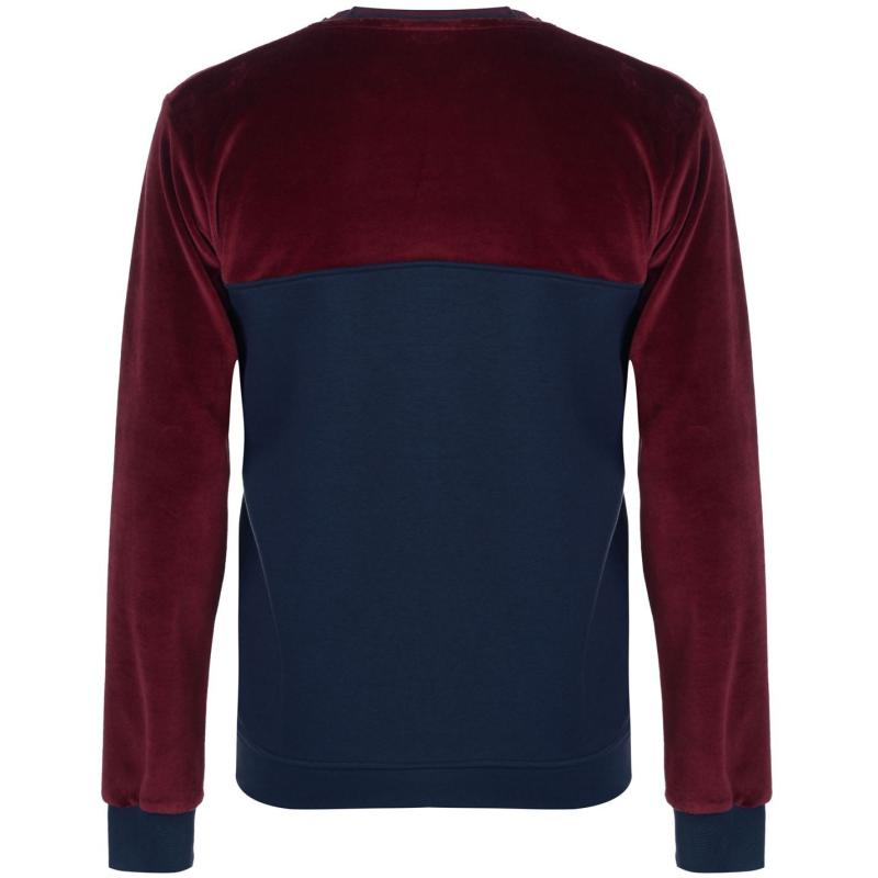 Mikina Dead Legacy Velour Sweater Burgundy/Navy