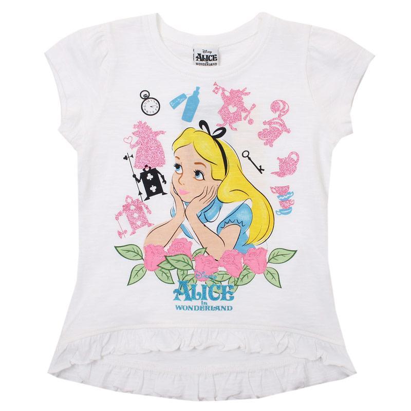 Disney Junior Girls Alice In Wonderland T-Shirt White