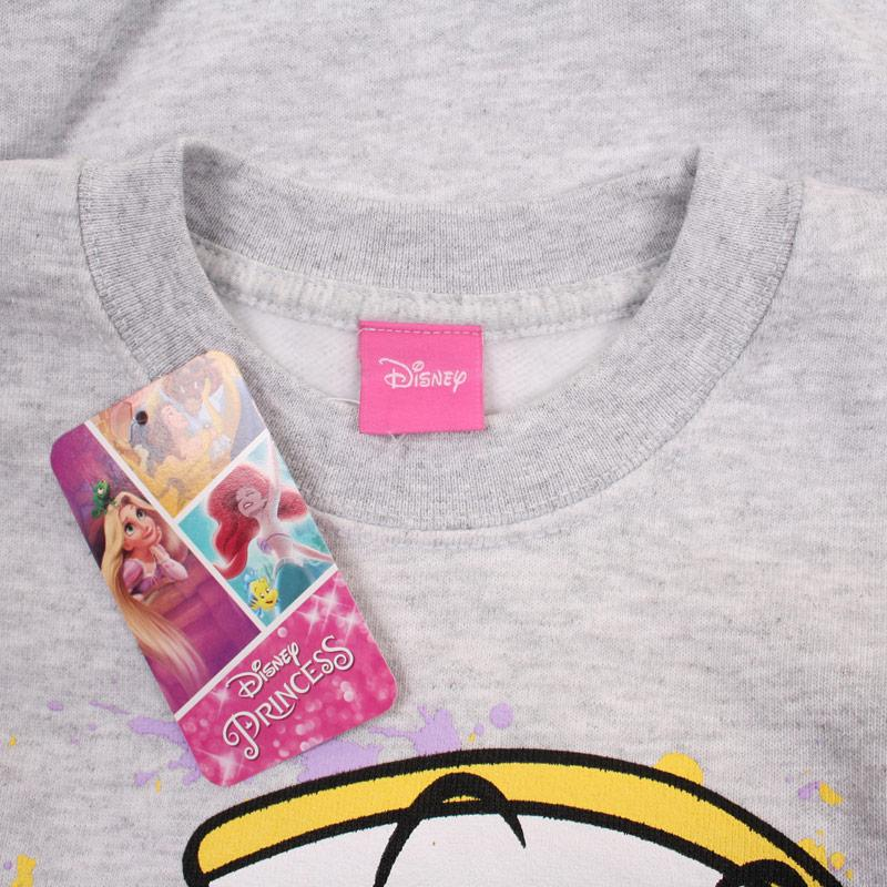 Disney Junior Girls Chip Splatter Crew Sweatshirt Grey