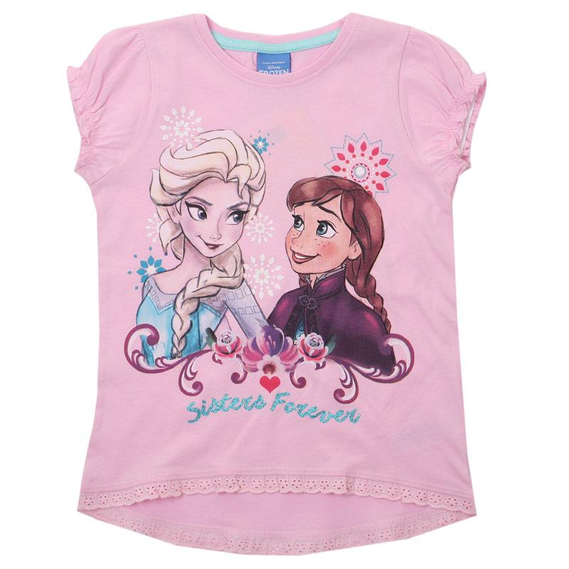 Disney Junior Girls Frozen Forever T-Shirt Pink