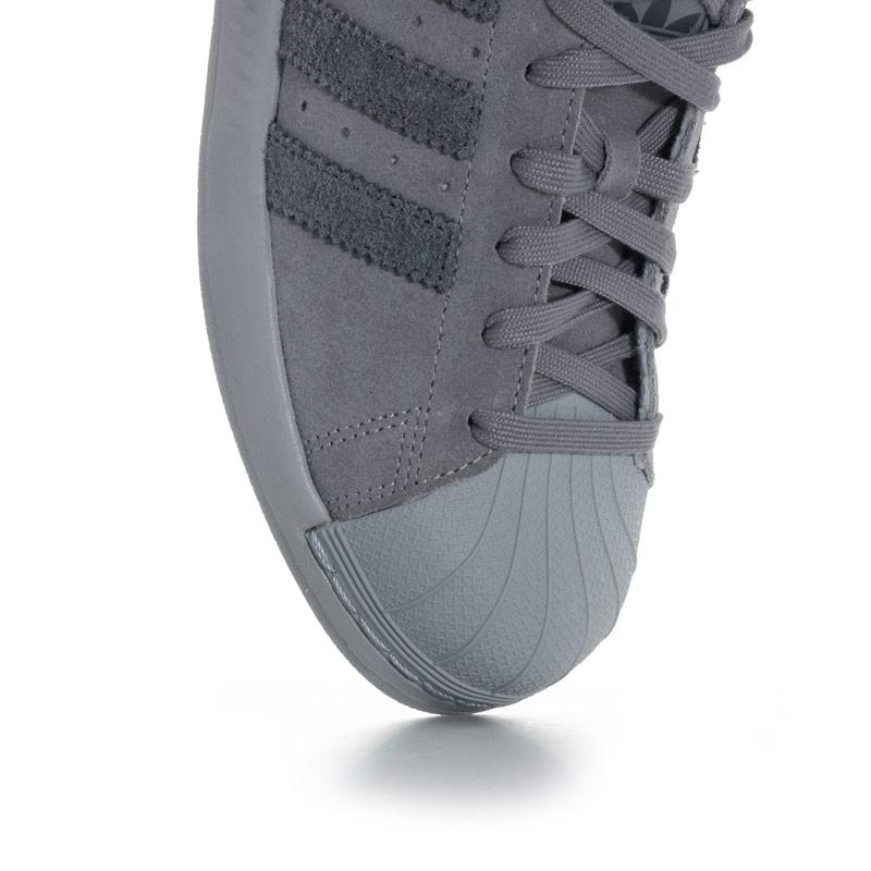 Adidas Originals Mens Superstar Bounce Trainers Grey