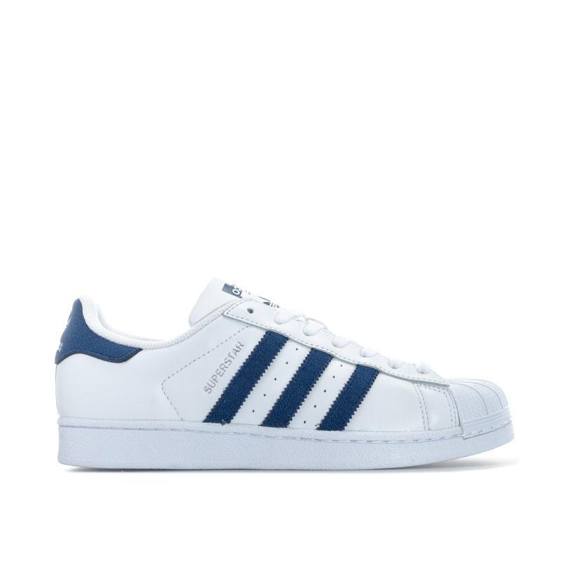 Adidas Originals Mens Superstar Trainers White Navy