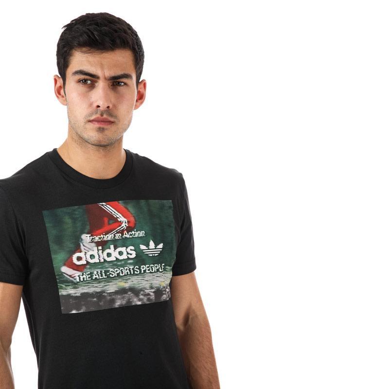 Tričko Adidas Originals Mens Traction Photo T-Shirt Black