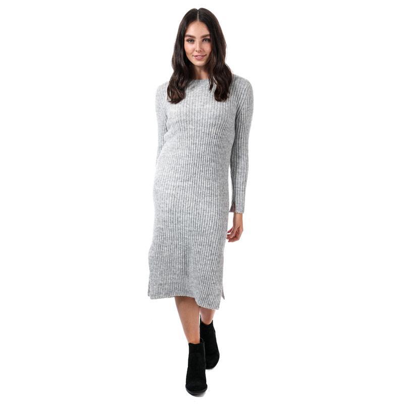 Svetr Vero Moda Womens Rozina Long Sleeve Jumper Dress Light Grey