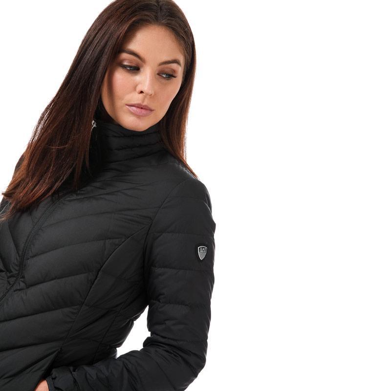 Emporio Armani EA7 Womens Shield Down Jacket Black
