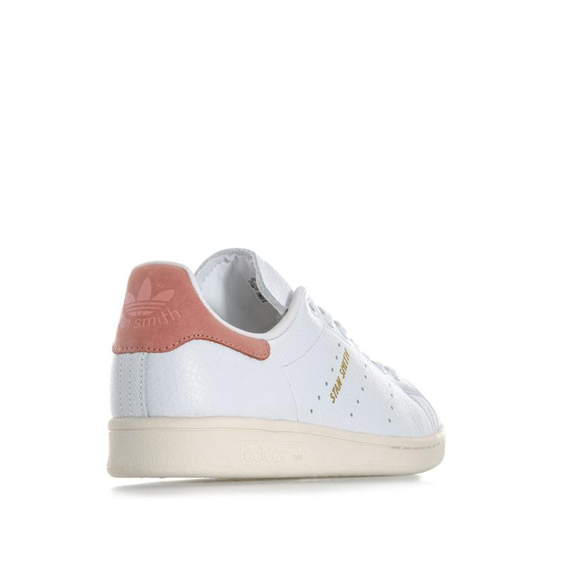 Adidas Originals Womens Stan Smith Trainers White pink