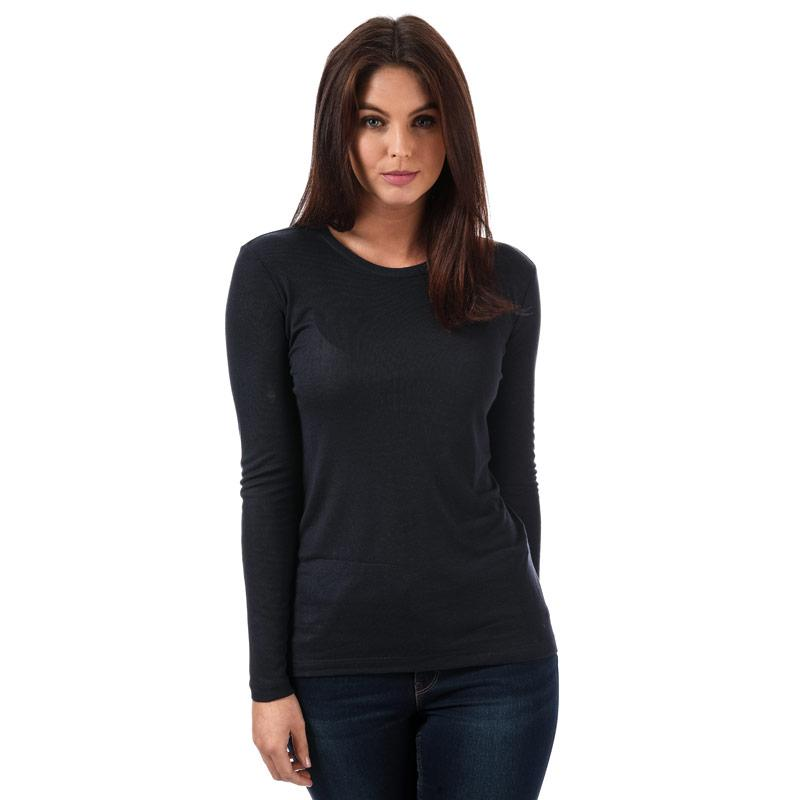 Vero Moda Womens Vita Long Sleeve Top Navy