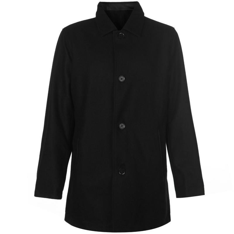 Cole Haan Reversible Wool Jacket Mens Black