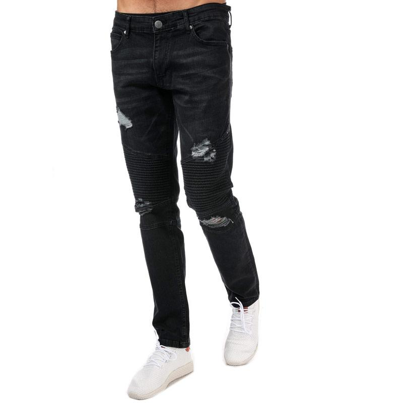 Crosshatch Mens Coramba Jeans Black
