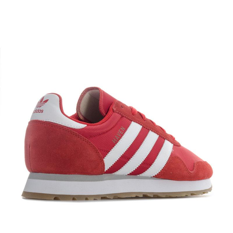 Adidas Originals Mens Haven Trainers red white