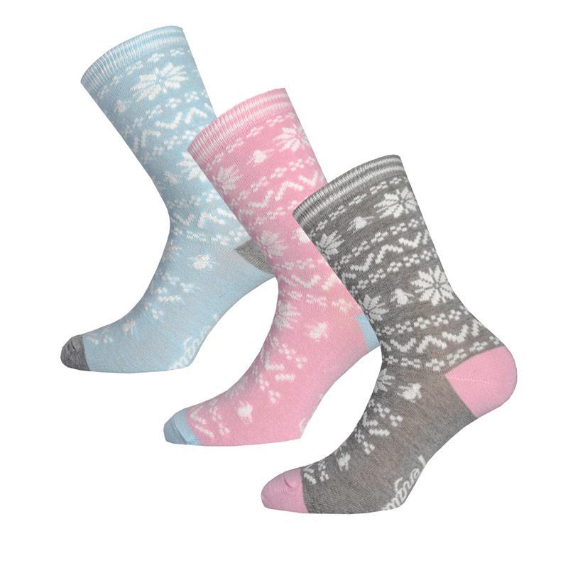 Ponožky Original Penguin Womens 3 Pack Socks Gift Set Blue pink