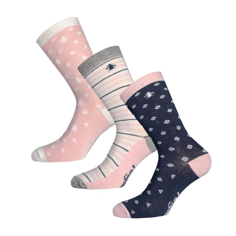 Ponožky Original Penguin Womens 3 Pack Socks Gift Set Pink