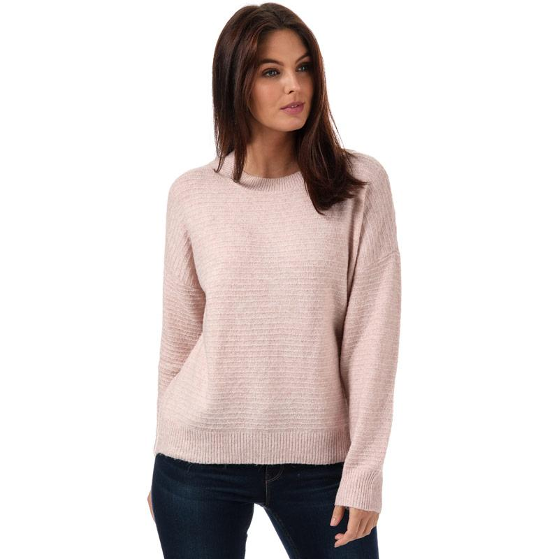 Svetr Vero Moda Womens Doffy Structure Long Sleeve Jumper Rose