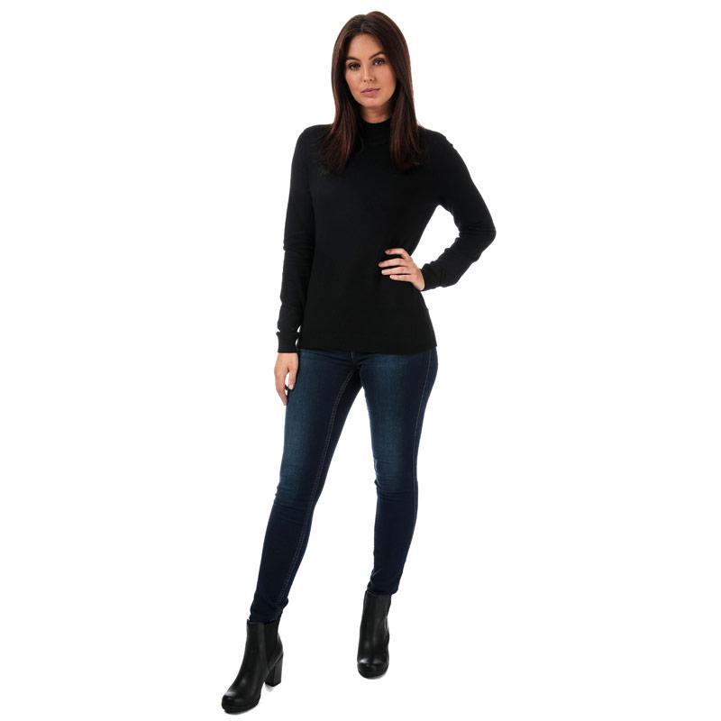 Svetr Vero Moda Womens Karis High Neck Jumper Black