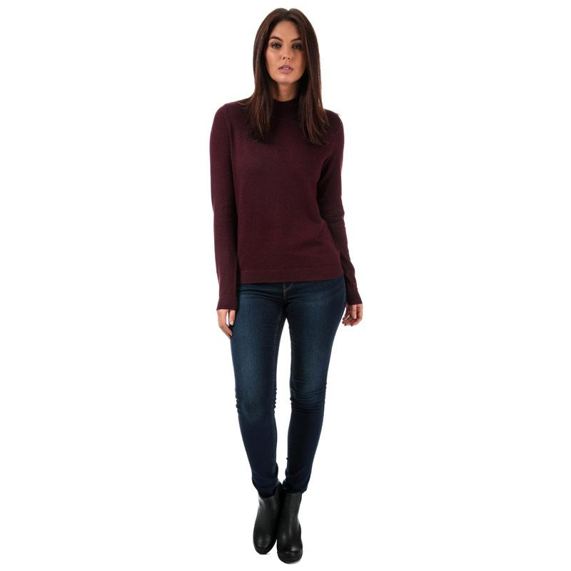 Svetr Vero Moda Womens Karis High Neck Jumper wine