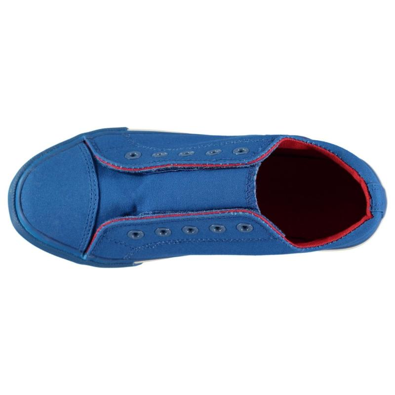 Boty Crafted Denim Boys Canvas Shoes Blue Red