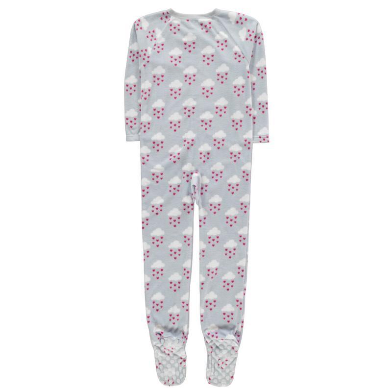 Pyžamo Crafted Fleece Navy Star and Planet Onesie Junior Lilac girls