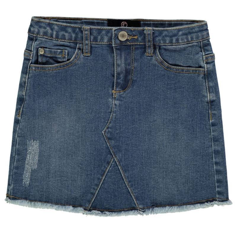 Firetrap Denim Mini Skirt Junior Girls Mid Wash