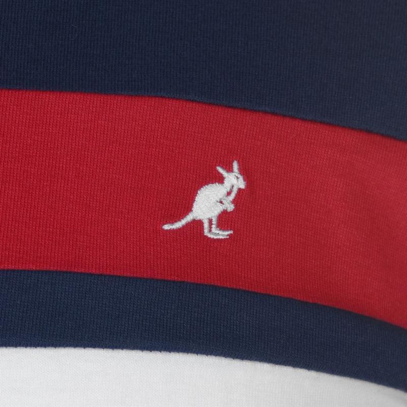 Tričko Kangol Long Sleeve T Shirt Mens Nautical