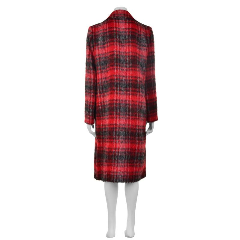 Laurel Check Coat Red