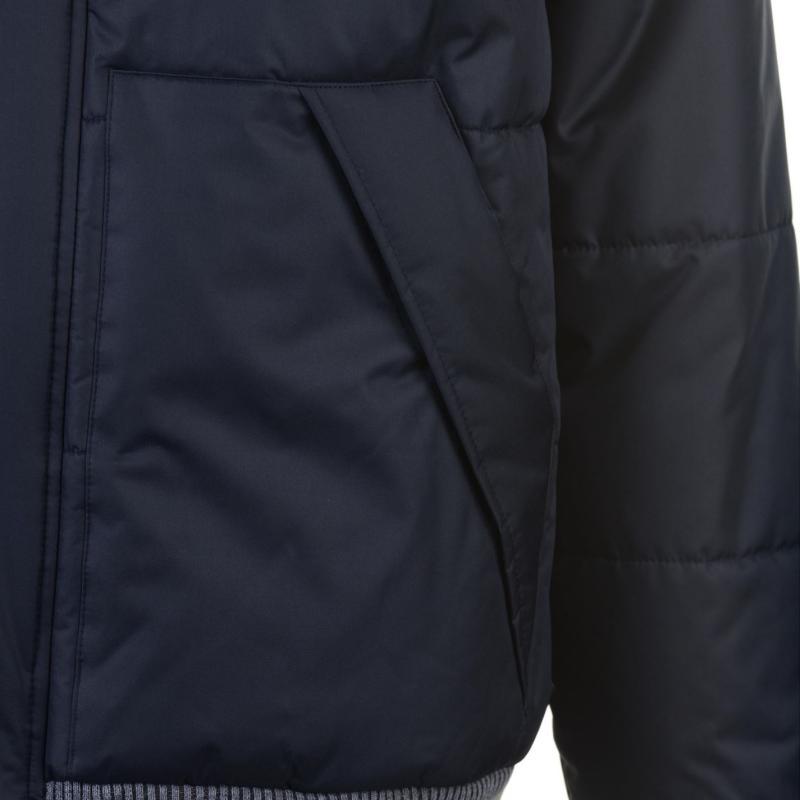 Lee Cooper Rib Padded Jacket Mens Navy