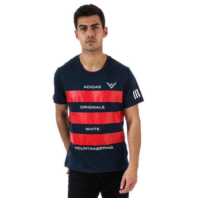 Tričko Adidas Originals Mens White Mountaneering AOWM T-Shirt Navy