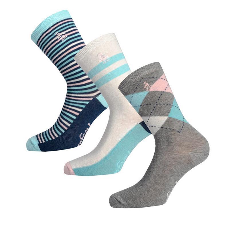 Ponožky Original Penguin Womens 3 Pack Socks Multi colour