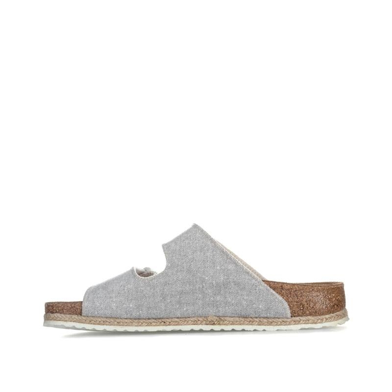 Boty Papillio Womens Arizona Sandals Narrow Width Light Grey