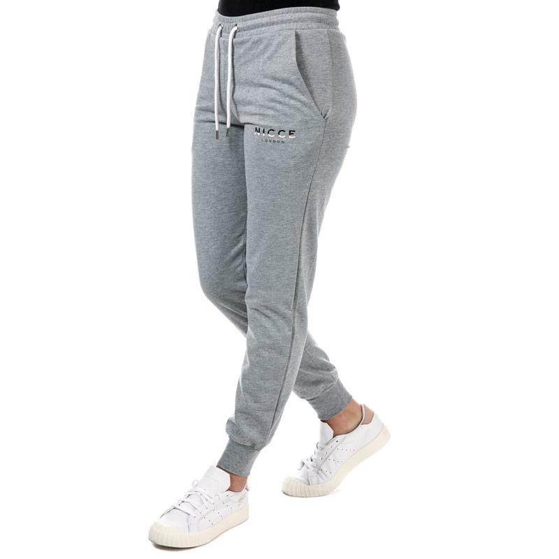Sportovní kalhoty NICCE Womens Slice Logo Jog Pants Grey Marl