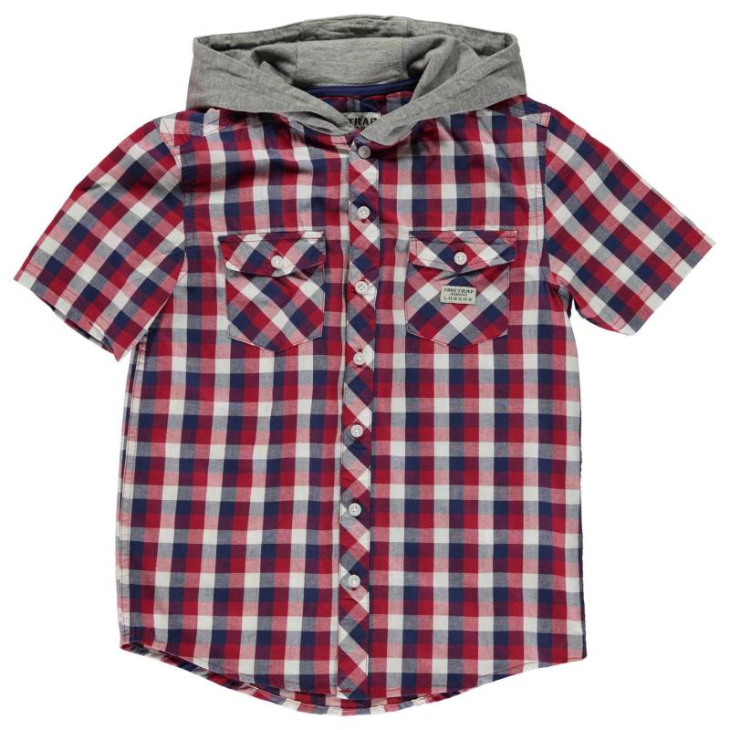 Košile Firetrap Check Shirt Junior Boys Navy Check