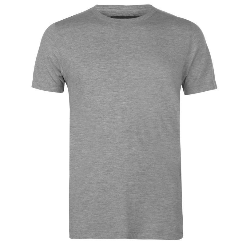 Tričko French Connection Crew T Shirt Mens Grey Light Mel
