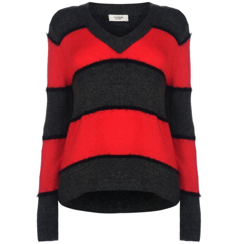 Svetr JDY Rascal Knitted Jumper GojiBerryStripe