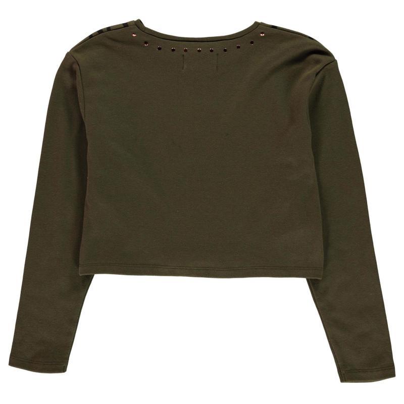 Firetrap Crop T Shirt Junior Girls Khaki London