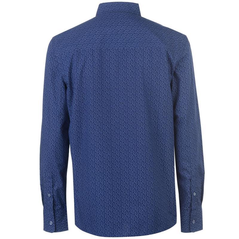 Lee Cooper AOP LS Shirt Mens Blue AOP