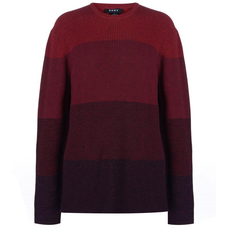Mikina DKNY Ombre Crew Sweater Mens Boardeaux