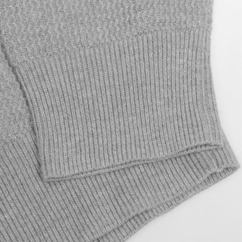 Mikina DKNY V Neck Knit Jumper Mens Bordeaux