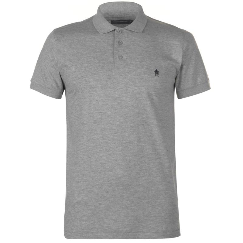 French Connection J Polo Shirt Grey LGT Mel