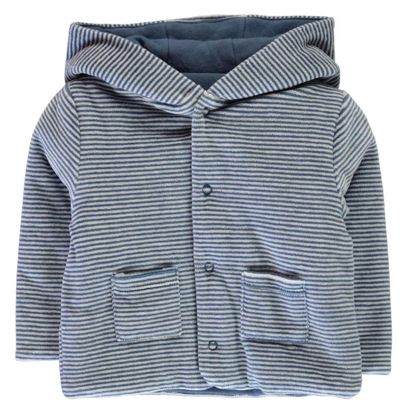 Crafted Mini Stripe Jacket Baby Blue Strp Boy