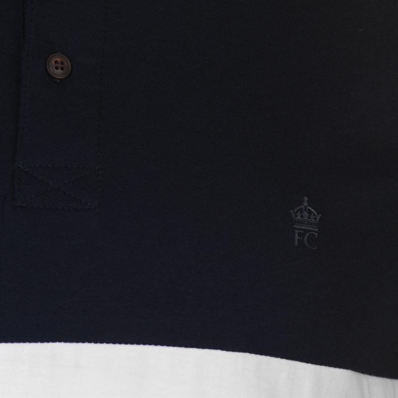 French Connection Block Coloured Polo Shirt Marine White